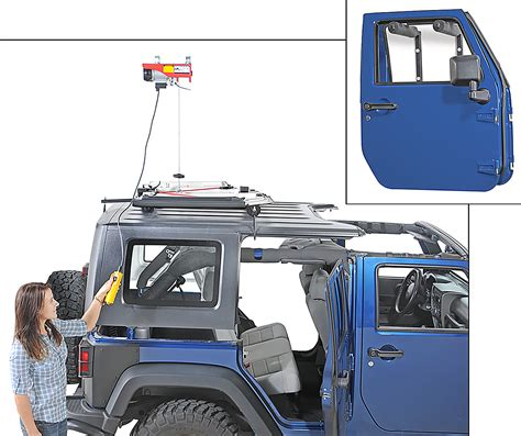 Jeep Top Hoist Lange Originals 174 Power Hoist A Top 174 Door Hanger Combo