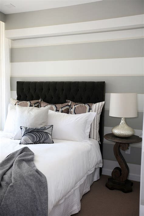 Grey And White Headboard gray tufted headboard design ideas