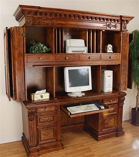 wood computer armoire solid wood barley twist computer armoire matches desk ebay