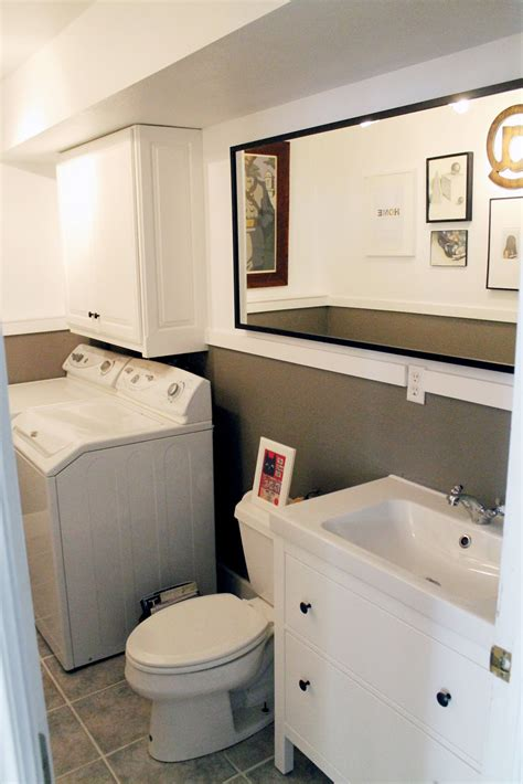half bath laundry room combo at home design ideas