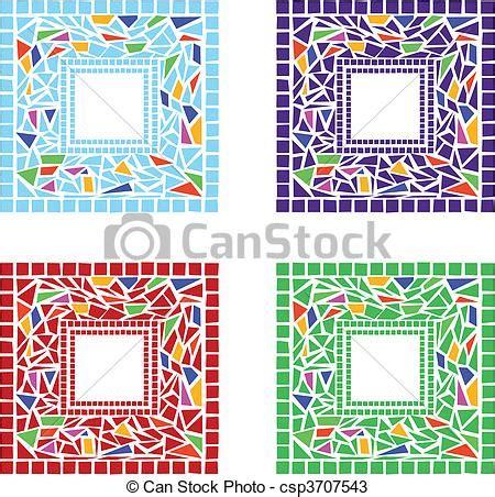 cornici mosaico vettori di cornici mosaico illustrazione di mosaico