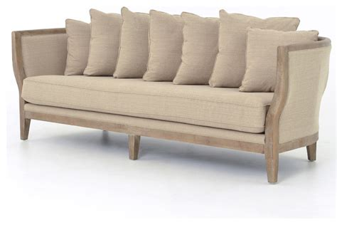 french country sectional sofas harcourt french country solid oak white wash sofa