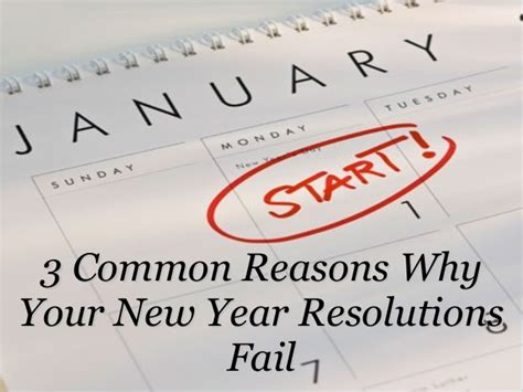 why new year 3 common reasons why your new year resolutions fail