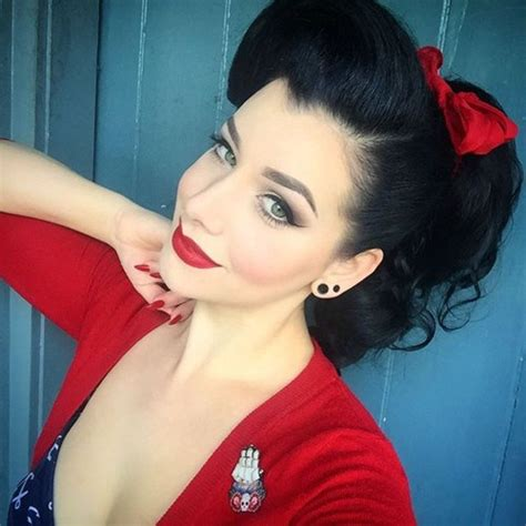 ebony pin up hair do 40 pin up hairstyles for the vintage loving girl