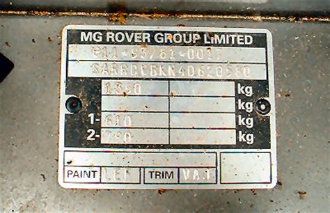 paint code mg rover org forums