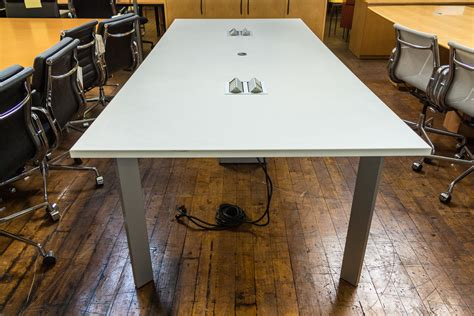 Haworth Planes Conference Table Haworth Planes 9 X 4 White Conference Table Peartree Office Furniture
