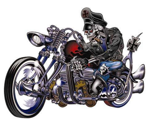 Moped Helm Aufkleber by Aufkleber Biker Mit Totenkopf Auf Chopper 14x11cm Old