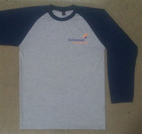 Tshirt Kaos Techno kaos raglan lengan 3 4 t shirt technomed kip s production