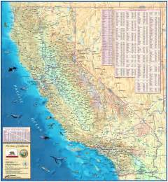 california state physical wall map by compart maps