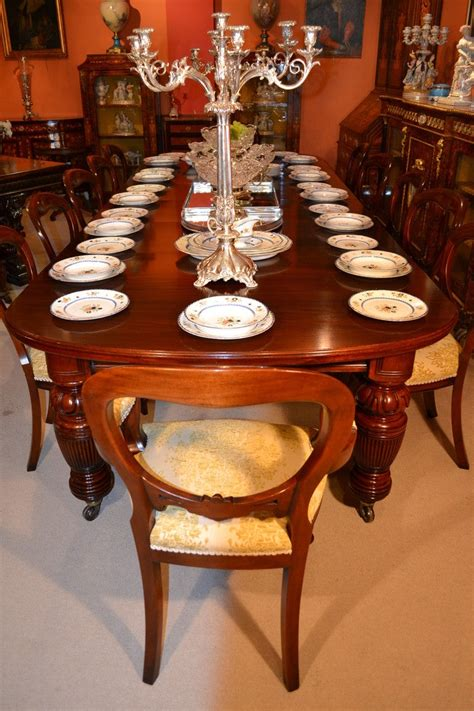 antique victorian dining table circa    chairs