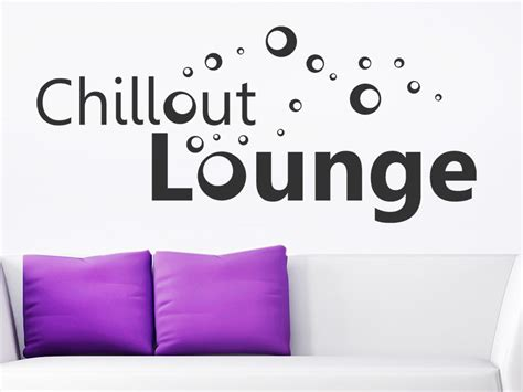 wandtattoo chillout lounge mit bubbles bei homesticker de