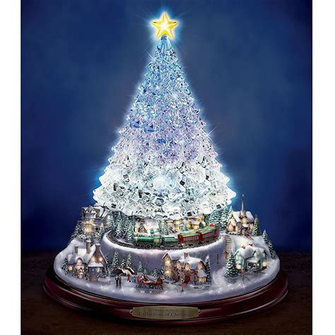 thomas kinkade reflections of christmas centerpiece lights