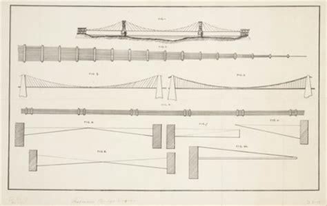 suspension bridge diagram suspension bridge diagrams 1917 at science and society