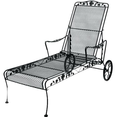Wrought Iron Chaise Lounge Chairs by 15 Best Collection Of Wrought Iron Outdoor Chaise Lounge