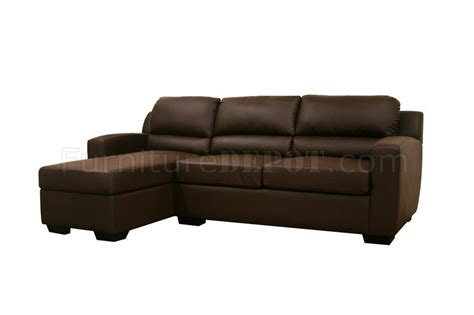 Faux Leather Convertible Sofa Bed Sectional Soren Brown Convertible Sectional Sofa