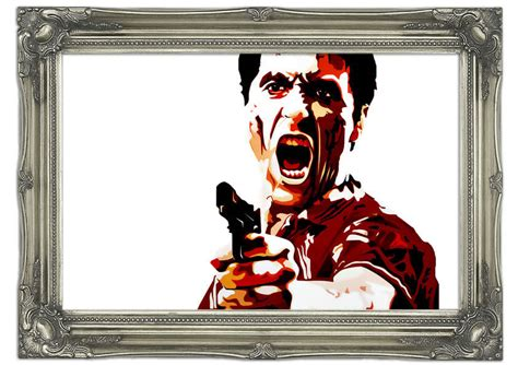 scarface wall mural scarface al pacino mural printed wall mural