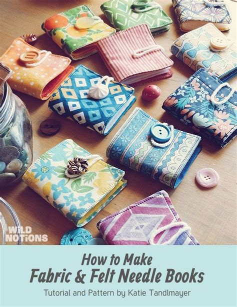 pattern fabric book make your own fabric felt needle books the free pattern