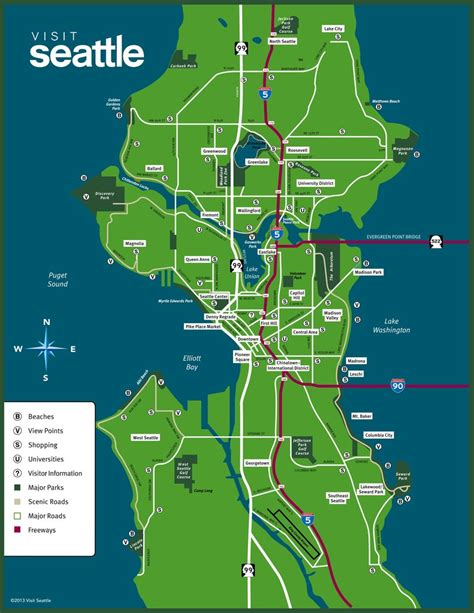 seattle map go seattle map images
