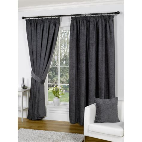 grey pleated curtains urban living heather chenille grey pencil pleat readymade