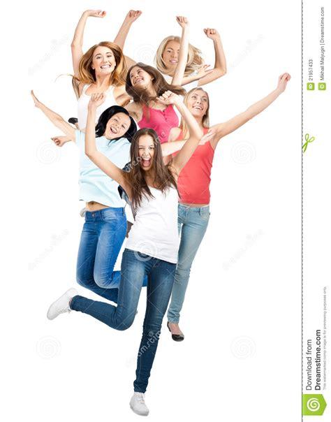imagenes de solteras alegres grupo de mujeres alegres felices fotos de archivo imagen