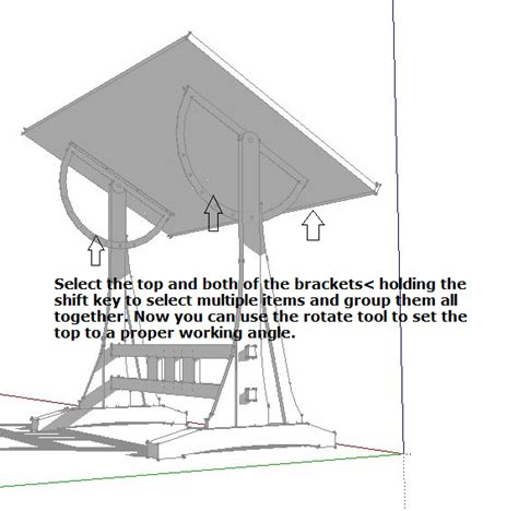 designing  draftsmans table  sketchup