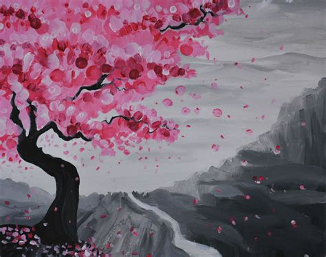 paint nite japanese cherry blossoms the gallery for gt japanese cherry blossom painting acrylic