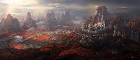 elven empire capital city silver arch
