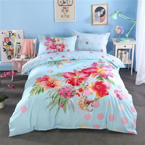 light blue bed set bohemian moroccan style bedding set light blue flower
