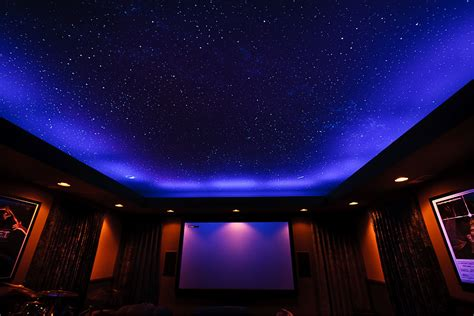 ceiling fiber optics or painted sky murals