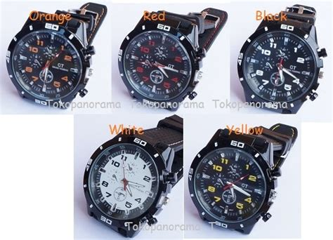 Gc Ready 5 Pilihan Warna Jam Tangan Sport Pria Gc Black Crono On jual beli harga grosir jam tangan gt grand touring