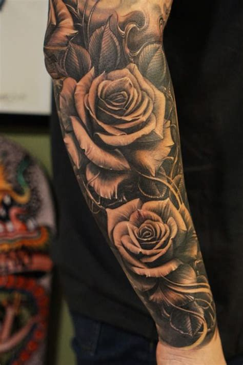 mens rose tattoo sleeves tattoos for designs ideas and meaning tattoos