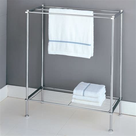 white bathroom towel racks stylish free standing towel racks for outstanding bathroom ideas homesfeed