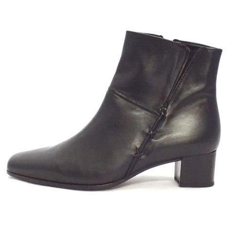 gabor boots bassanio womens wide fit ankle boot in black