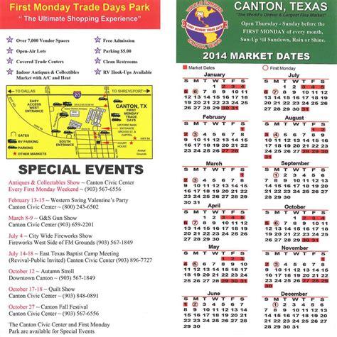 Canton Trade Days Calendar Canton Trade Days Calendar 2014 Calendar Template 2016