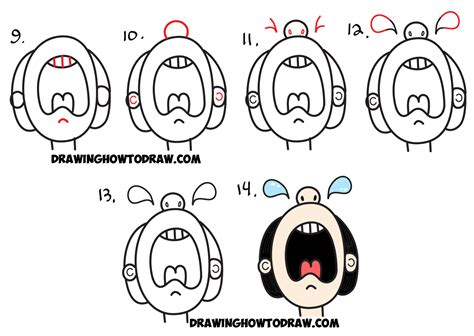 steps on how to draw doodle how to draw person from the word cry easy