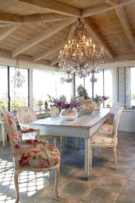 26 ways to create a shabby chic dining room or area - Stehle Kronleuchter