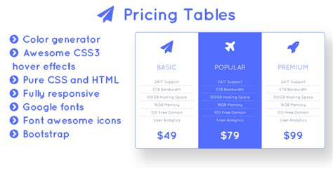 responsive table generator flight responsive bootstrap pricing tables with color generator theme for u
