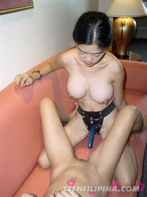 Busty Asian Bar Girl Pounds Her Skinny Friend With A Strap On Dildo filipina sexy Girls