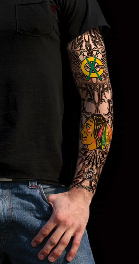 blackhawks tattoo chicago blackhawks tattoo blackhawks