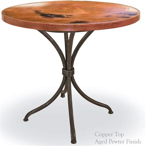 Wrought Iron Bistro Table Pictured Here Is The Italia Bistro Table With An Aged Pewter Iron Finish And 36 Inch