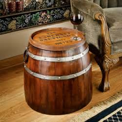 wine barrel side table the green