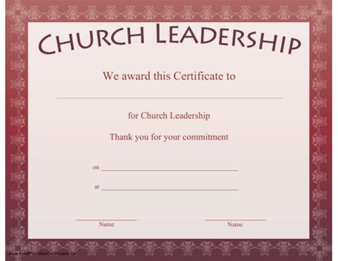 church certificates templates joy studio design gallery