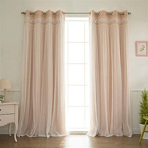 96 inch sheer curtain panels buy decorinnovation sheer overlay 96 inch grommet top