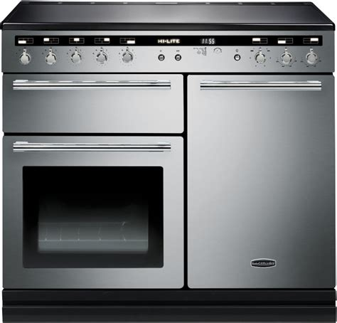 electric induction range cookers 100cm buy rangemaster hlt100eiss c hi lite stainless steel with chrome trim 100cm electric induction