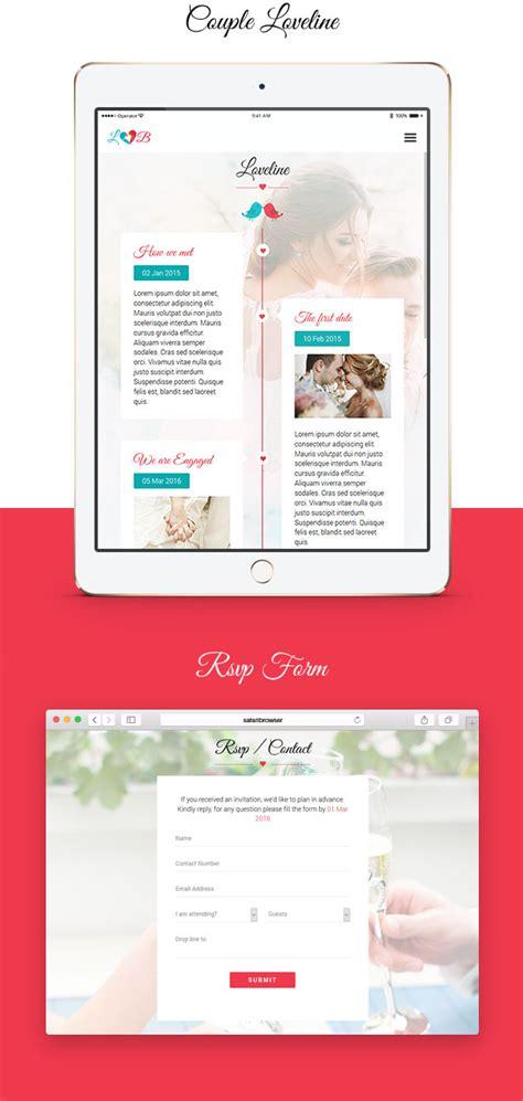themeforest navbar lovebirds responsive wedding html template by lithemes