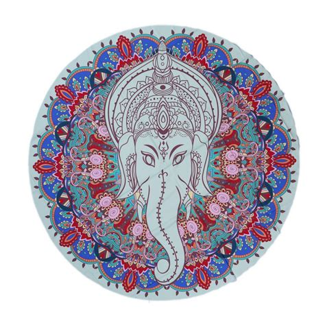 indian pattern yoga mat bohemian mandala round beach tapestry hippie throw yoga