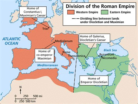 why was the roman empire divided into two sections rome