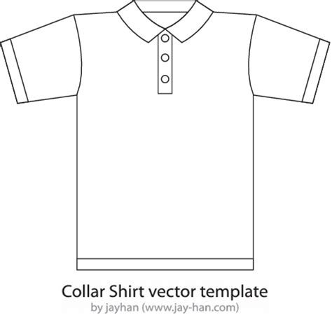 The Gallery For Gt Collar T Shirt Template Collar T Shirt Design Template