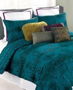 Clearance Bed In A Bag Closeout Nanette Lepore Villa Teal Baroque Comforter And