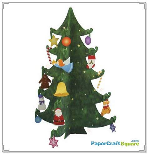 Tree Papercraft - 2010 mini tree papercrafts string